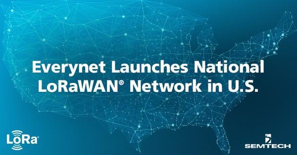 Everynet Launches National LoRaWAN Network in U.S.