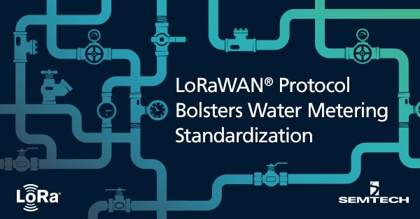 LoRaWAN Bolsters Smart Water Metering