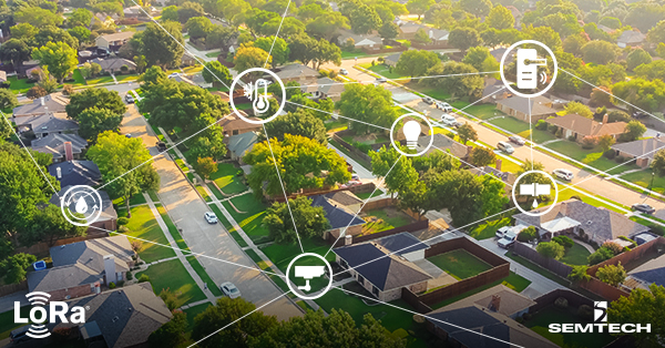 Smart Homes Connect Indoors and Outdoors With Long Range, Low Power Technology